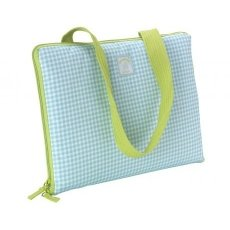 SummerHouse by Navigate Picnic Blanket Vintage Gingham Blue