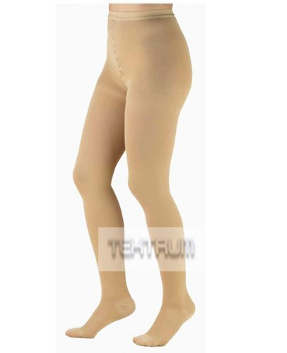WAIST HIGH FIRM COMPRESSION PANTYHOSE MEDICAL STOCKINGS 20-30MMHG FOR MEN AND WOMEN – CLOSED TOE, BEIGE, LARGE by Tektrum Development Corp. online kaufen