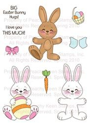 Peachy Keen Clear Stamp Assortment Bunny Dolls; 2 Items/Order