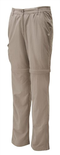 Craghoppers Womens Nosilife Convertible Trousers - Mushroom - 20R
