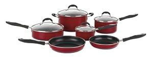 Cuisinart 55-10R Advantage Nonstick 10-Piece Cookware Set, Red