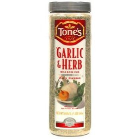 Tone's Garlic & Herb Seasoning (20 oz) Large Restaurant / Food Service Shaker Top Size Container