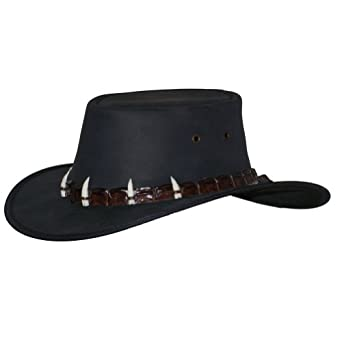 Barmah Hats Outback Crocodile Leather Hat 1033BL / 1033BR at Amazon