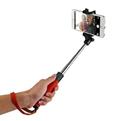 TAIR Foldable Extendable Bluetooth Selfie Stick with Built-in Remote Shutter iphone tripod selfie stick iphone 6