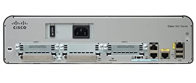 Cisco 1941 Integrated Wired Router, 2 Gigabit Ethernet Ports, 256MB Flash / 512MB DRAM, IP Base License, CISCO1941/K9