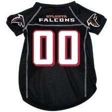 "Atlanta Falcons NFL dog pet jersey XS 4-9lbs 8-10"" length"