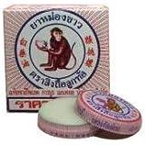 White Monkey Holding Peach Medicated Balm 8g. (12 Bearings)