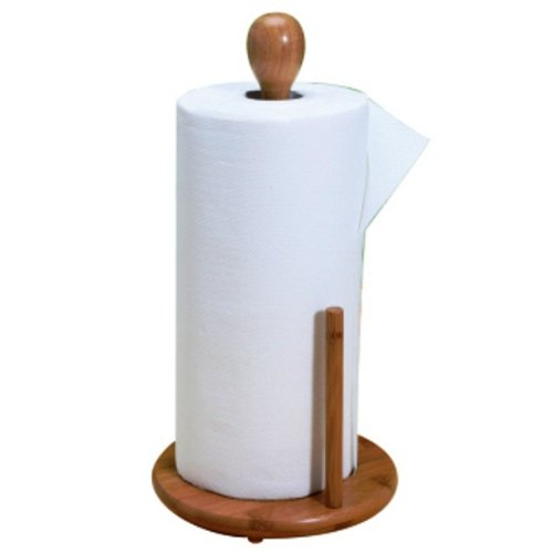 Natural living Bamboo Paper Towel Holder