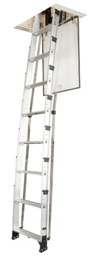 Werner AA10 250-Pound Duty Rating Televator Aluminum Universal Telescoping Attic Ladder, 10-Foot photo