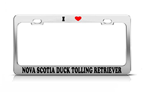 I HEART NOVA SCOTIA DUCK TOLLING RETRIEVER Cat Dog Puppy License Plate Frame