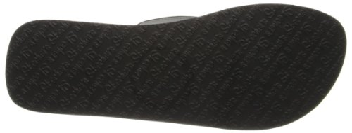 Skechers Cali Women's Vinyasa-Rhinestone Flip Flop,Black,7 M US
