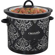 Crock-Pot 4-Quart Manual Slow Cooker, Black/White by Jarden Consumer Solutions