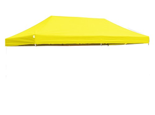 Ez Pop Up Canopy Replacement Top 10X20 Instant Ez Canopy Top 15 Colors Select,Color|Yellow front-785886