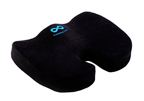 Everlasting Comfort 100% Pure Memory Foam Luxury Seat Cushion,