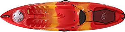 "90454 Emotion Temptation Sit-On-Top kayak, Red Yellow, 10'3"" from Lifetime OUTDOORS"