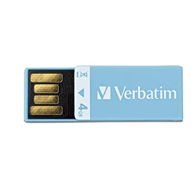 Verbatim 4 GB Clip-IT USB 2.0 Flash Drive 97550 (Blue)