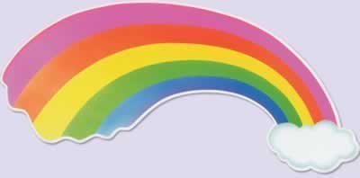 Rainbow Cutout Party Accessory (1 count) - 1