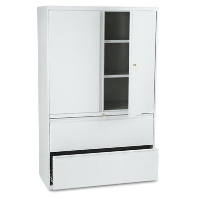 800 Series Storage Cabinet With 2-Drawer Lateral File, 42w, Light Gray