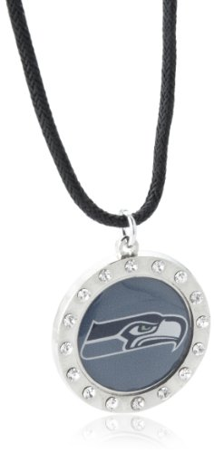 NFL Seattle Seahawks Crystal Circle Necklace at Amazon.com