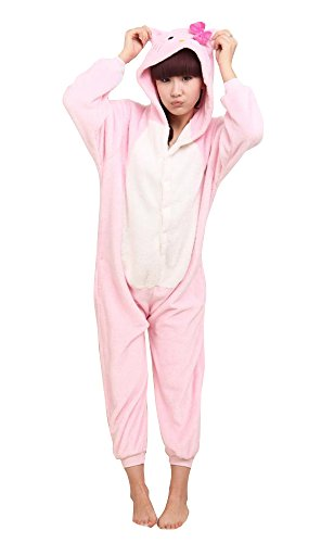 My Pink Kitty Cat Kigurumi Costume