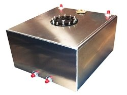 RRC - 10 Gallon Aluminum Flat Bottom Fuel Cell With 0-90 Ohm GM Sending Unit (10 Gal Fuel Cell compare prices)
