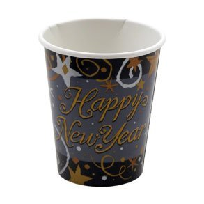 Sparkling New Year Pack of 8 - 9oz Cups