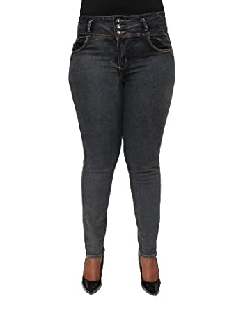 Plus Size Brazilian Butt Lifting High Waist Jeans By Diamante DJ5-E192PLUS (20)