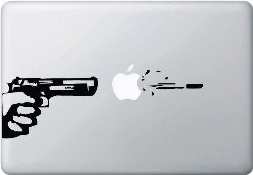 Apple, Gun and Bullet - Macbook or Laptop Decal