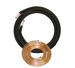 "JMF 1-1/8"" x 50' HVAC Straight End Copper Lineset Line Set"