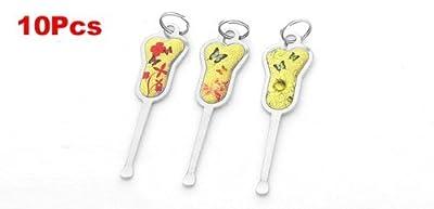 Miki&Co 10 Pcs Butterfly Flower Decor Gold Tone Handgrip Earpick Earwax Ear Wax Cleaner