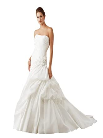 Dearta Womens A Line Strapless Court Train Wedding Dresses At Amazon Womens Clothing Store