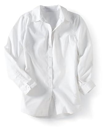 Samantha's Style Shoppe Comfy Casual Boyfriend Shirt Womens White 1X