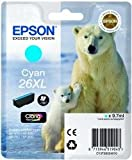 Epson C13T26324010 - 26XL - XL size - cyan - original - ink cartridge - for Expression Premium XP-510, XP-600, XP-605, XP-610, XP-615, XP-700, XP-710, XP-800, XP-810