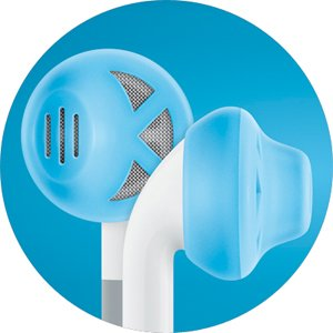 Earskinz Earbud Covers (Es1) - Turquoise - For Iphone 4S / 4 / 3Gs / 3G, Ipod Touch, Ipod Nano. One Size