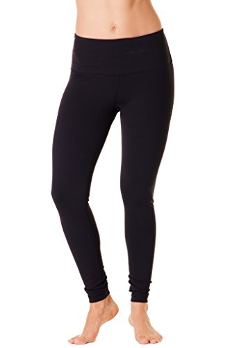 90 Degree By Reflex - High Waist Power Flex Legging - Tummy Control - Black Small