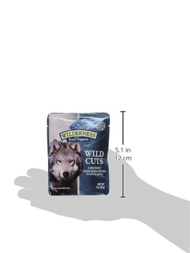 Blue Buffalo Wilderness Wild Cuts Trail Toppers Chunky Chicken Bites In Hearty Gravy - Dog 3 oz, Pack of 24_Image1