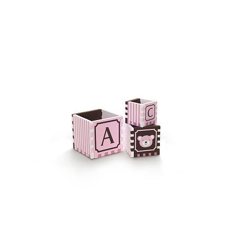 Bath Puzzle Blocks by FAO Schwartz - Pink