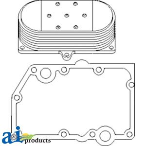 A & I Products Cooler, Engine Oil, w/ Gaskets, 7 Plate. Replacement for John ...