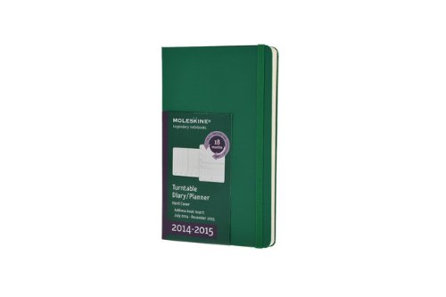 Moleskine 2014-2015 Turntable Weekly Planner, 18M, Pocket, Oxide Green, Hard Cover (3.5 x 5.5) (Moleskine Diaries) (Moleskine Planner Turntable 2015 compare prices)