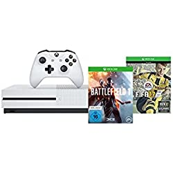 Xbox One S 500GB Konsole - FIFA 17 Bundle + Battlefield 1