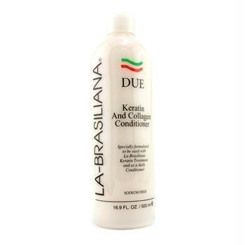 Due Keratin & Collagen Conditioner – La-Brasiliana – Hair Care – 500ml/16.9oz