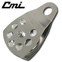 "CMI 3"" Single Pulley with Aluminum Sheave and Stainless Steel Sideplates - RP105"