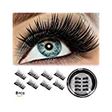 Half Eye Magnetic Eyelashes Fake False lashes Reusable Magnet Eyelashes Natural Looking (8 pcs)