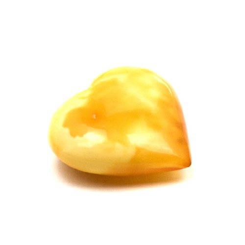 Baltic Butterscotch Amber Medium Heart Gemstone Collectible Antique