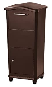 Architectural Mailboxes 6900RZ Elephantrunk Parcel Drop Box, Oil Rubbed Bronze