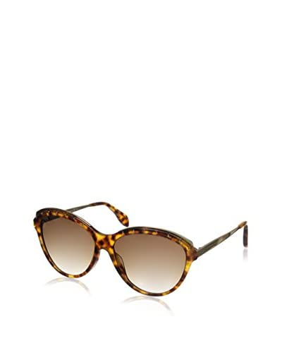 Alexander McQueen Women's AMQ4241/S Havana/Brown Gradient Sunglasses