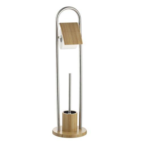 Axentia 282255 WC-Garnitur Bonja mit WC-Papierrollenhalter 80 cm