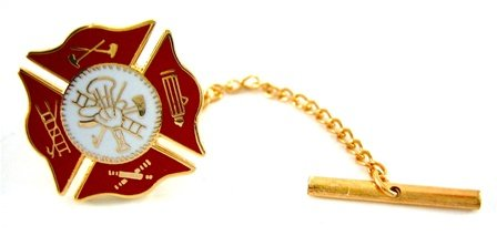 Fire Department Rescue EMT Shield Tie Pin Tack