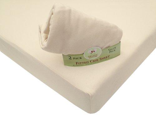 Imagen de American Baby Compañía Twin Pack 100% orgánico Algodón Interlock Crib Sheet Amueblada, Natural
