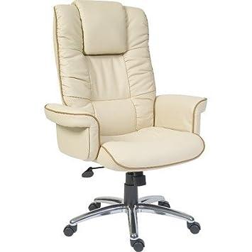 Windsor Leather Executive Armchair in Cream